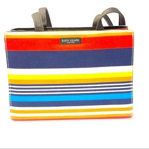 Kate Spade Vintage Multi-Color Rainbow Tote Purse